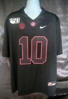 (NWT) M.Jones #10 Black Alabama Crimson Tide Football Jersey (L) 150th Patch