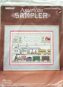 "1988 Bernat ""ECHOES OF THE PAST"" American Sampler X-Stitch Kit #H04182"