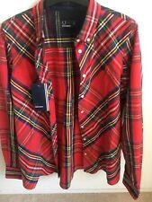 Ladies Boyfriend Fit Tartan Fred Perry Shirt Size 10