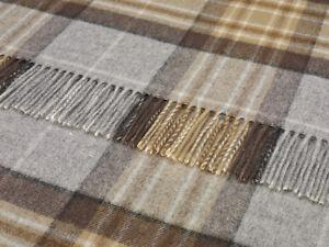 100% pure lambswool tartan Bronte sofa throw rug blanket - MCKELLAR