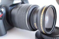 Wide Angle Macro Close Up Semi Fisheye Lens for Nikon D5300 D5200 D5100 D50 New