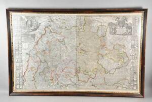 """k67n01- Alte Kupferstich Karte, """"Ducatus Würtenbergici"""", teils handkoloriert"""
