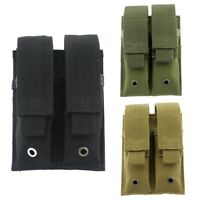 Us Stock Tactical Molle Double Magazine Pouch Hunting Pistol Mag Pouch Holder
