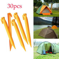 30* Plastic Tent Pegs Nails Sand Ground Stakes Outdoor Camping Awning Yellow AU