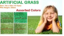 10 Sqm 20mm Synthetic Artificial Grass Turf  Plant Lawn Flooring Assorted Colors
