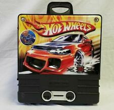 Hot Wheels Rolling 100 Car Case Wheels Pull Behind Matchbox Toy Storage Hard