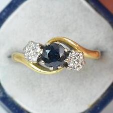 18 Carat Yellow Gold Sapphire Victorian Fine Jewellery