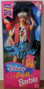 Disney Fun Barbie Doll Third Edition Mickey Mouse - Mattel 1995 Damaged Box