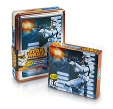 2 PACKS: Crayola Star Wars Storm Trooper Collectible 64 Count Crayon Tin