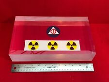 "Bicron BC412 Plastic Scintillator Block 12"" X 7"" X 2.25"" for Radiation Detection"