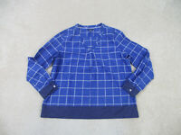 Tommy Hilfiger Shirt Womens Extra Large Blue White Long Sleeve Casual Ladies