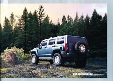 2007 Hummer H2 and SUT H3 and H3x Original Car Dealer Sales Brochure