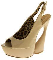 Womens Peep Toe High Heels Ladies Platform Slingback Pumps Party Shoes Size 5-7