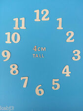 Wooden CLOCK NUMBERS 1-12 Various Choices of Sizes & Styles Available WOOD Craft