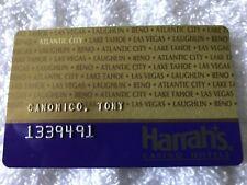 Obsolete Vintage Harrahs Casino Raised Letters Slot Card Atlantic City