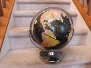 "VINTAGE 1960s Mid Century MCM Replogle Starlight Globe Black Ocean 12"" EUC"