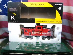 K-Line K613-2071 Cotton Belt O Scale Extended Vision Modern Caboose # 45 -Smoke