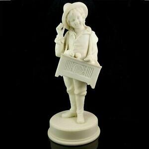 Antique PARIAN Child Organ Grinder PORCELAIN FIGURINE bisque ware beggar pottery