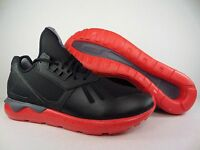 New Mens adidas Originals Tubular Runner Shoes 11.5 Black Red AQ8387