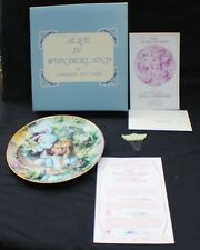 NIB 1979 Fantasy World of Alice in Wonderland Plate #1 ALICE AND WHITE RABBIT