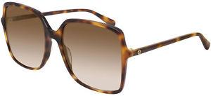 Occhiali da Sole Gucci GG0544S Havana/Brown Shaded 57/18/140 donna