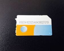 Lot of 5 At&T Standard size Sim Cards used No Service for Test/Bypass only