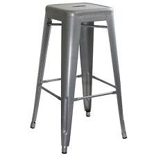 AmeriHome BS030 Loft Silver Metal Bar Stool