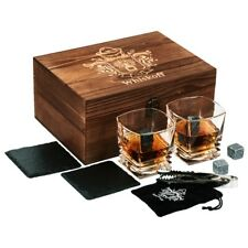 Whiskoff Glass Gift Set - Whiskey Glasses, Stones, Coasters