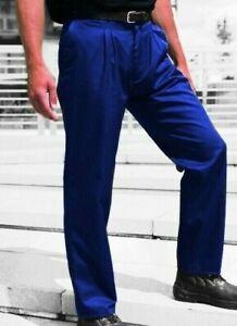 ROYAL BLUE TROUSERS -  drivers golf  British Workwear Reg & Tall fit - TR61