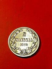 Finlandia/Russland * 2 Kronen 1870 Silber * Alexander II * Cond. 1+/1 * seltene ...