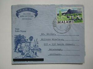 1964 MALAWI AIR LETTER AEROGRAMME to SCOTLAND