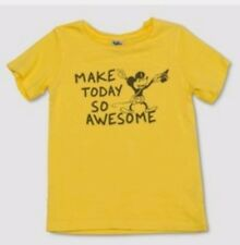 Mickey Mouse 3T Toddler Boys Shirt Yellow Make Today So Awesome Disney