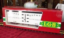 LGB 4074-B 02  TIFFANY 4 AXLE REEFER CAR,  HEAVY PLASTIC, D.S.P.&P.R.R.