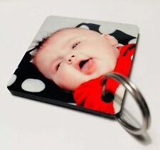 Personalised Two Photo Key Ring Double Sided Any Image £3.49 Free Fast Postage