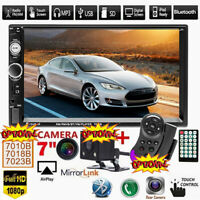 """7"""" inch Car Stereo Radio MP5 FM Player HD Double 2DIN BT AUX USB TF Touch Screen"""