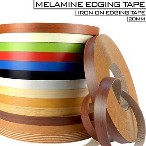 High Quality 20 mm Pre Glued Iron On Edging Melamine Veneer Tape Strips Colours