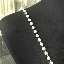 DETACHABLE WEDDING DRESS STRAPS/SLEEVES Sparkly Diamonte/pearls One Size