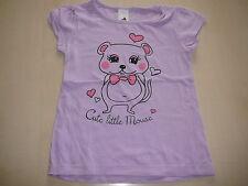 C & A tolles T-Shirt Gr. 104 lila mit Mäusedruckmotiv !!