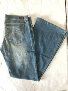 NEW Vintage DKNY TIMES SQUARE FLARE JEANS Light Blue SIZE: 5-13