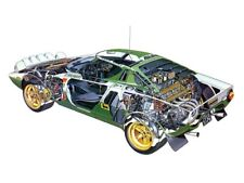 A3 LANCIA 1972-1974 STRATOS Rally Cutaway Drawing Wall Poster Art Picture Print