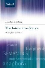 The Interactive Stance, Ginzburg, Jonathan, New Book