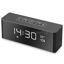 Portable Bluetooth Alarm Clock Loud Speaker FM Radio MP3 Hands-free USB AUX A8Y2