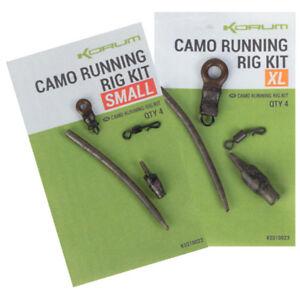 Korum Camo Running Rig Kits 4 Per Pack