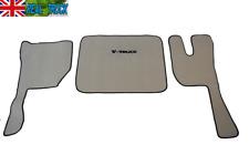 VELOUR FLOOR MATS SET-  FIT VOLVO FH3  2009-2013  TWIN AIR SEATS -BEIGE