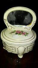 Mirrored porcelian trinket box signed. AWC #199