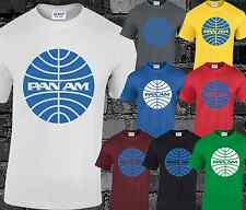 Pan Am Mens T Shirt Cool Funny Retro Movie Top Airline Plane Film Logo Fashion