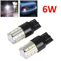 2xT20 7443 21 5730 SMD 6W LED Sidelight Daytime Running Light Bulb DRL White