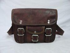 Small Vintage Leather Crossbody Messenger Bag Purse Handbag Travel Shoulder Bag