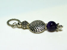 Amethyst Vintage Anhänger für Halskette Violet Ball