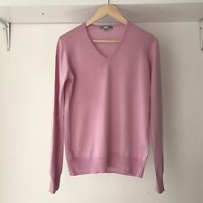 UNIQLO Classic Soft Wool Knit Pink Jumper, Size Large / AU Size 12